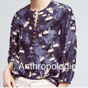 Maeve by Anthropologie Swan Shirt